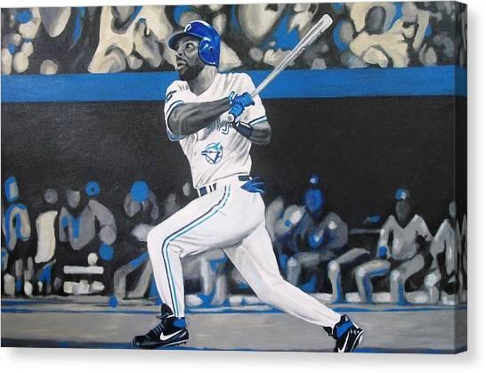 Toronto Blue Jays Canvas Print - Touch Em All Joe by Paul Smutylo