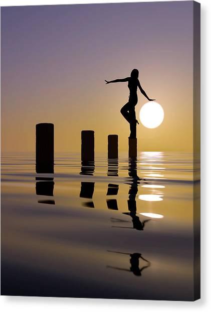 Touch My Sun Canvas Print by Mustafa Celikel