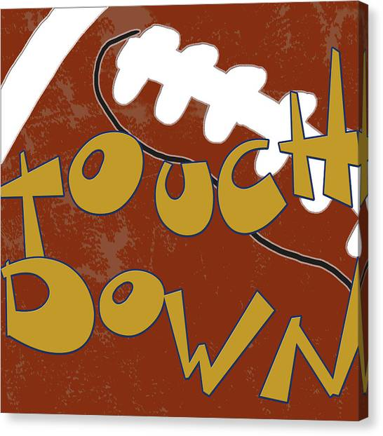 Football Canvas Print - Touchdown by Anna Quach