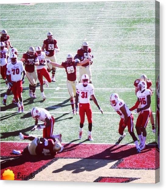 Touchdown Canvas Print - #touchdown #bc #bostoncollege #boston by Essy Dias