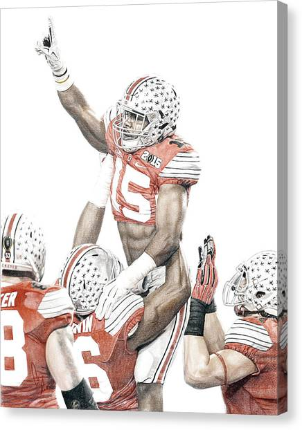 Gamer Canvas Print - Touchdown by Bobby Shaw