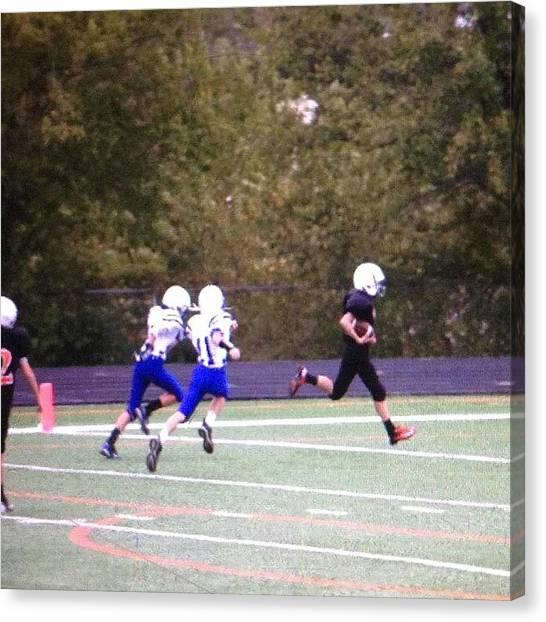 Touchdown Canvas Print - #touchdown By #5 @reedrogers5 by Kim Rogers