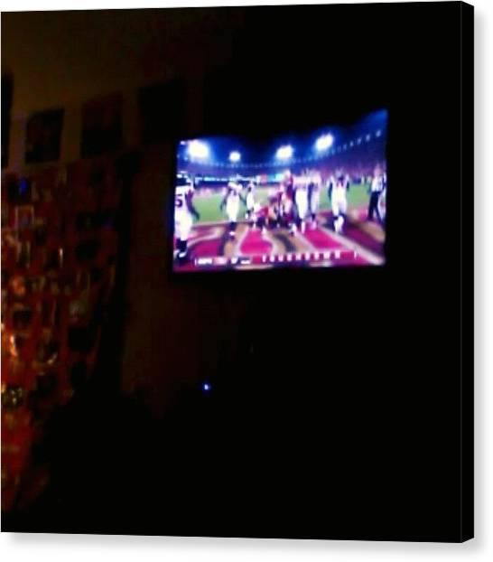 Touchdown Canvas Print - #touchdown #niners by Susanna Lara