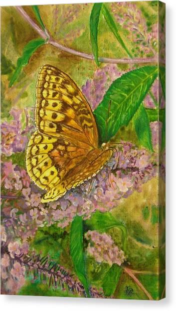Touchdown On Purple Canvas Print