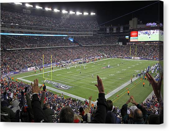 Patriot League Canvas Print - Touchdown Patriots Nation by Juergen Roth