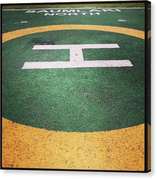 Touchdown Canvas Print - #touchdown #saumlaki #airport #trip by Lia Torry