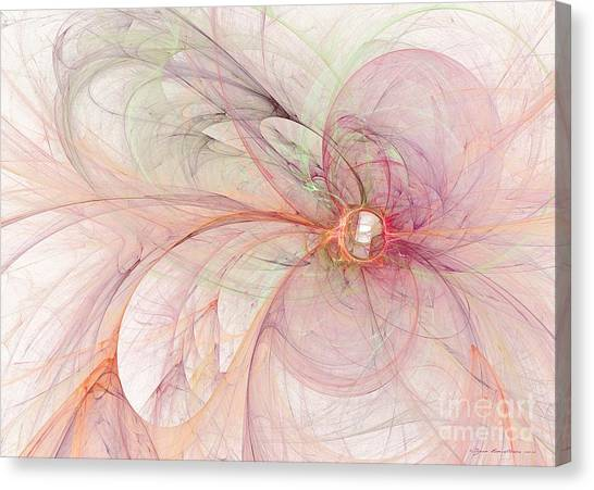 Canvas Print featuring the digital art Touched By An Angel by Sipo Liimatainen