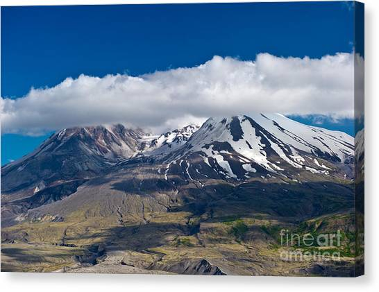 Touching Mt. St. Helens Canvas Print by Jackie Follett
