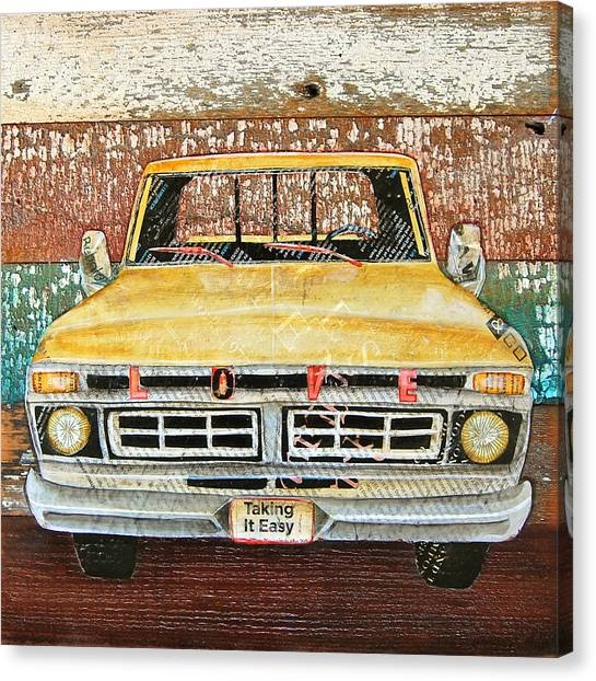 Ford Truck Canvas Print - Tough Love by Danny Phillips