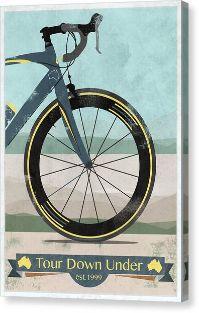 Kangaroo Canvas Print - Tour Down Under Bike Race by Andy Scullion