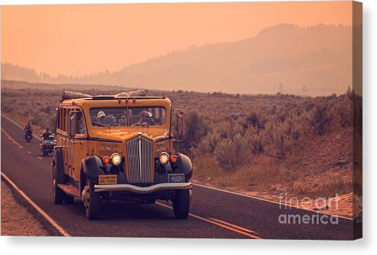 Yellowstone National Park Canvas Print - Touring Yellowstone by Edward Fielding