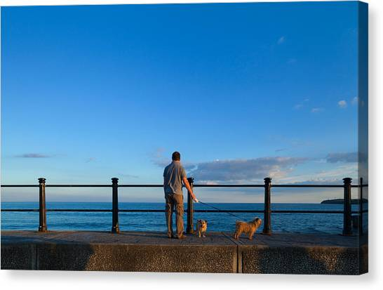 Waterford Canvas Print - Tourist On The Promanade, Tramore by Panoramic Images
