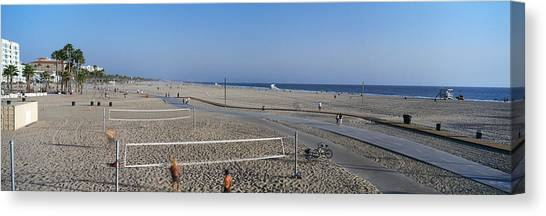 Volleyball Canvas Print - Tourists Playing Volleyball by Panoramic Images