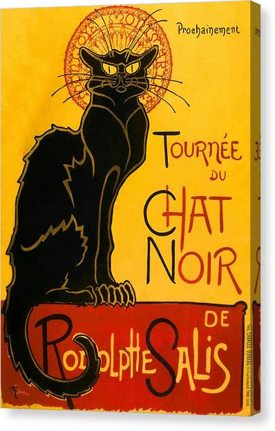 Tournee Du Chat Noir Canvas Print