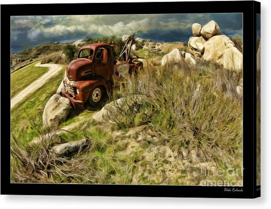 Tow Truck No Where To Go Canvas Print