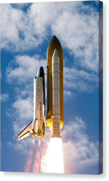 Space Ships Canvas Print - Towards Heaven by Ricky Barnard