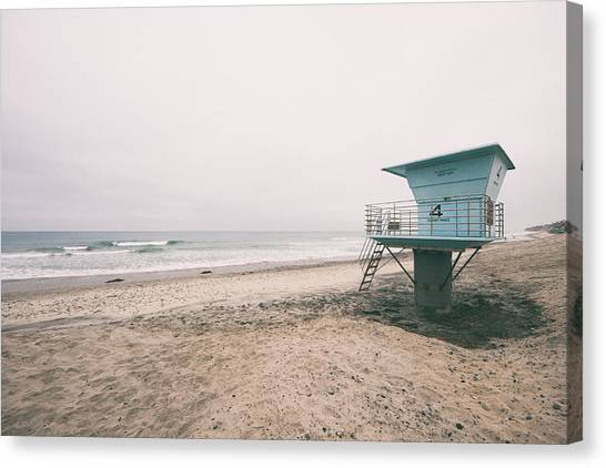 Lifeguard Canvas Print - Tower 4 Faded by Tanya Harrison