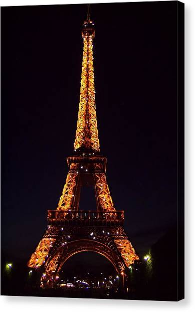 Tower At Night Canvas Print