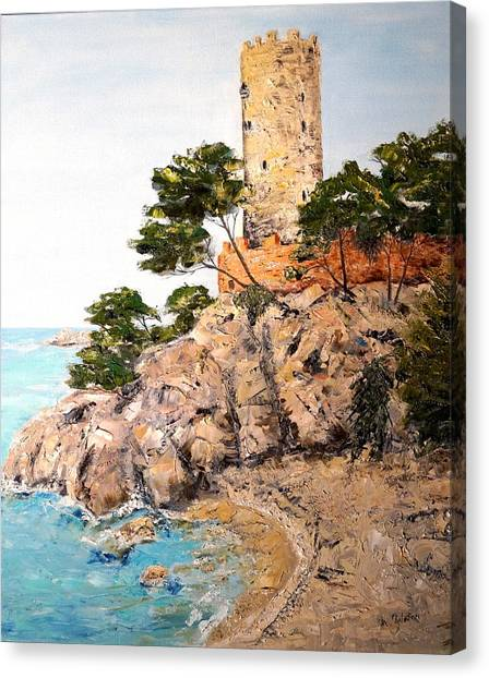 Tower At Playa De Aro Canvas Print