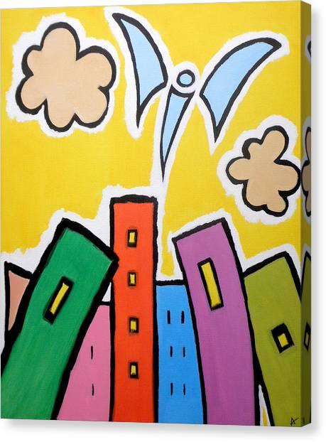 Tower Blocks Canvas Print