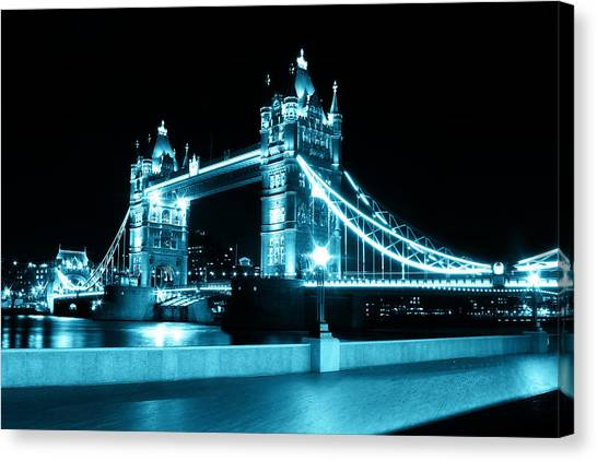 Tower Bridge Blue Canvas Print by Dan Davidson