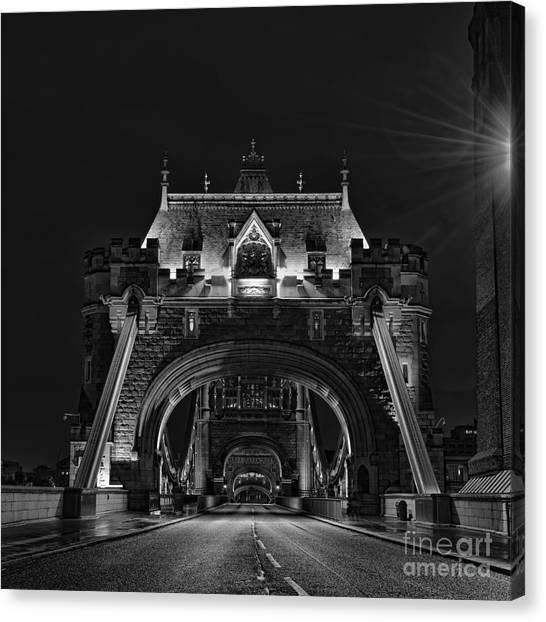 Stamford Bridge Canvas Print - Tower Bridge Dramatic Mono by Steev Stamford