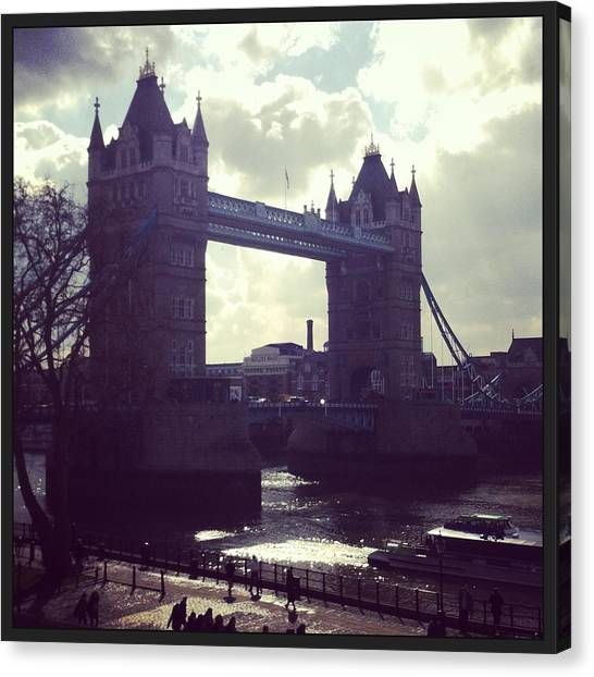 Big Ben Canvas Print - Tower Bridge - London by David  Simmons