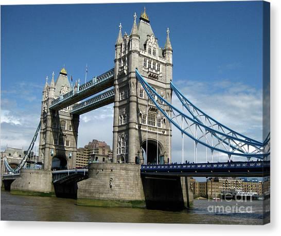 Kate Middleton Canvas Print - Tower Bridge London by Heidi Hermes