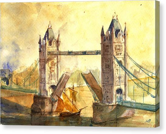 Tower Bridge London Canvas Print - Tower Bridge London by Juan  Bosco
