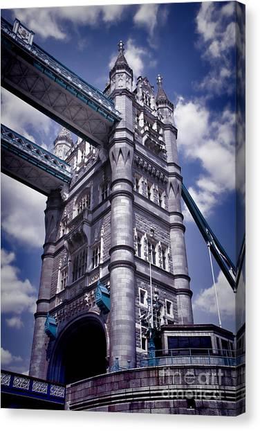 Kate Middleton Canvas Print - Tower Bridge London by Kasia Bitner