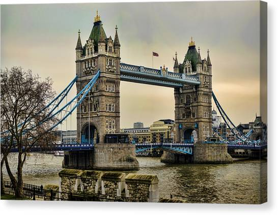 Tower Of London Canvas Print - Tower Bridge On The River Thames by Heather Applegate