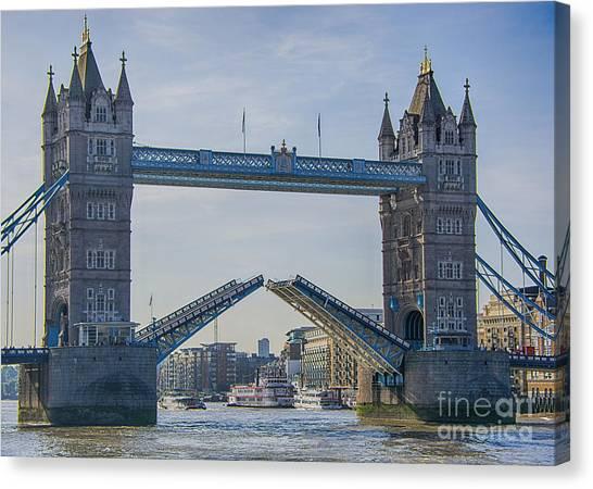 Tower Bridge Opened Canvas Print