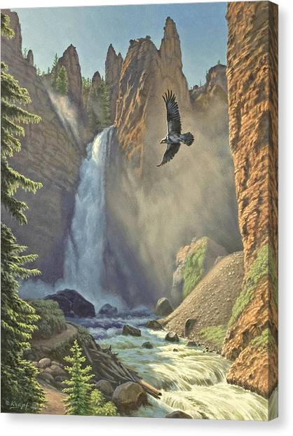 Yellowstone Canvas Print - Tower Falls  by Paul Krapf