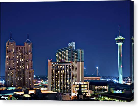 Tower Of America In San Antonio Texas City  Aerial Canvas Print