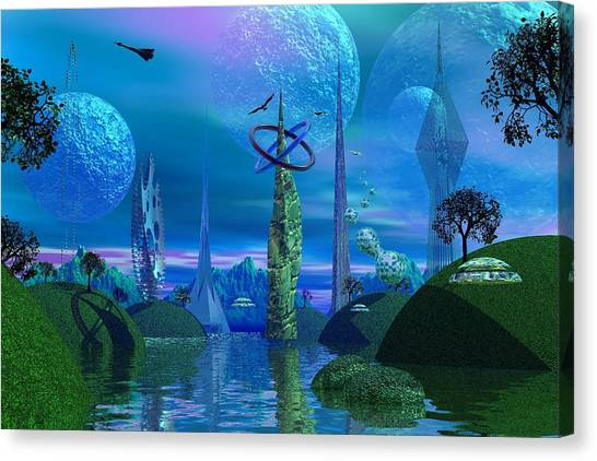 Tower Of Hurn Canvas Print