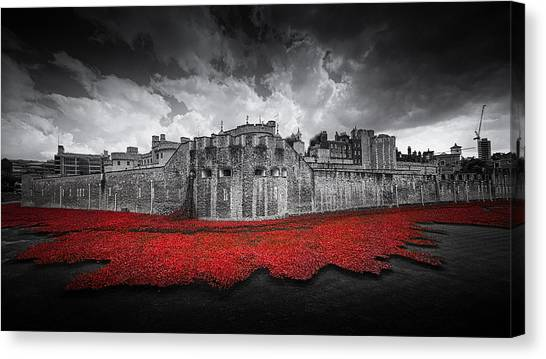Tower Of London Canvas Print - Tower Of London Remembers by Ian Hufton
