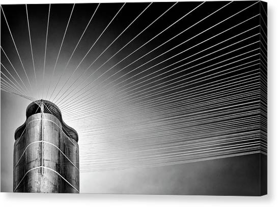 Tower Canvas Print - Tower Of The Strings by Linda Wride