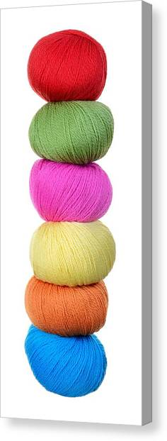 Peruvian Canvas Print - Tower Of Yarn by Jim Hughes