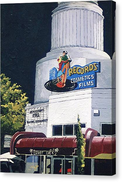 Tower Records Canvas Print by Paul Guyer