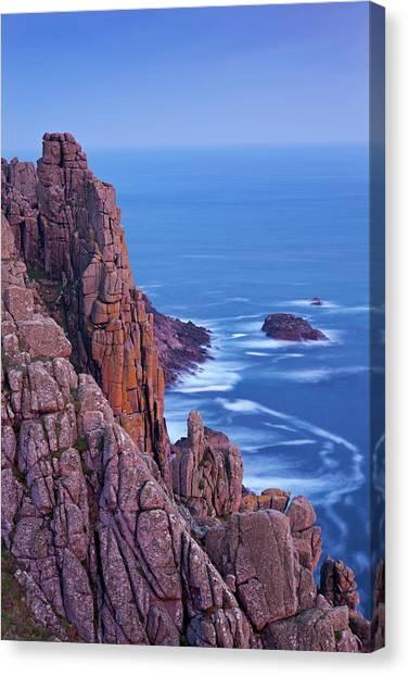 Cliff Burton Canvas Print - Towering Granite Cliffs At Gwennap Head by Adam Burton / Robertharding