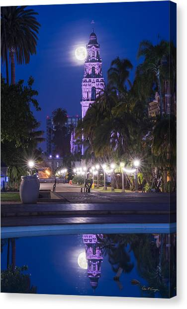 Towering Moon Canvas Print