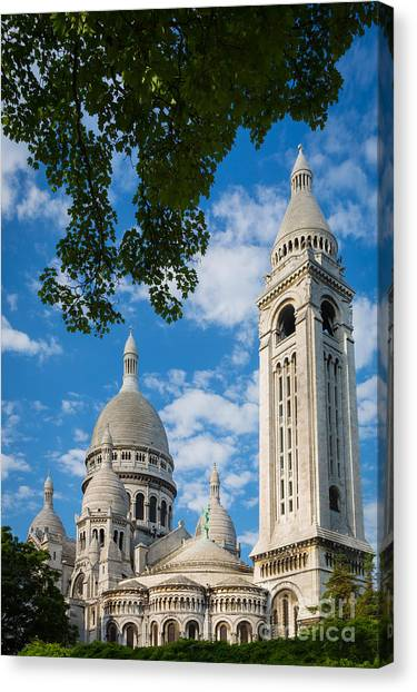 Europa Canvas Print - Towering Sacre-coeur by Inge Johnsson
