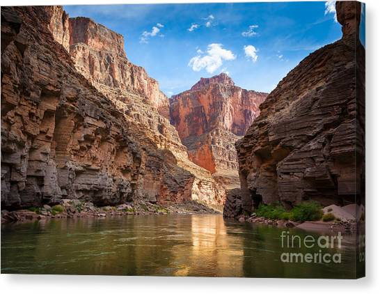 Colorado River Canvas Print - Towering Walls by Inge Johnsson