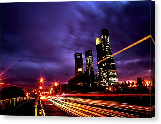 Towers And Skyscrapers Of Madrid Canvas Print by Ddanni Hr