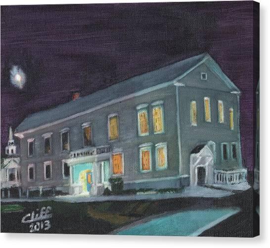 Town Hall At Night Canvas Print