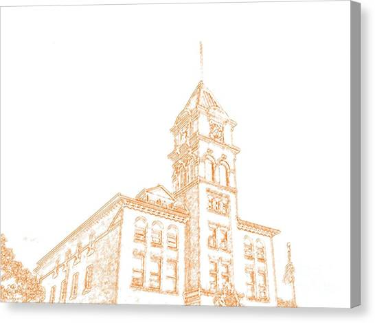 Town Hall Lancaster Ny Canvas Print