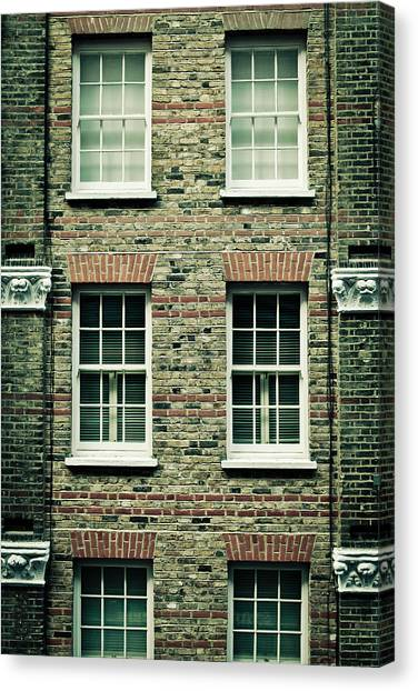 Window Canvas Print - Town House by Tom Gowanlock
