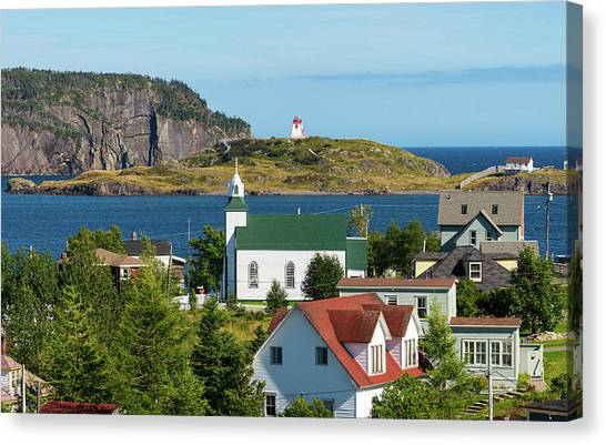 Newfoundland And Labrador Canvas Print - Town Of Trinity, Newfoundland by Panoramic Images