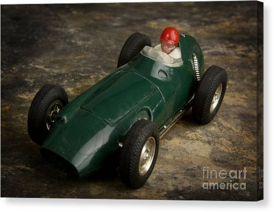 Racecar Drivers Canvas Print - Toy Race Car by Bernard Jaubert