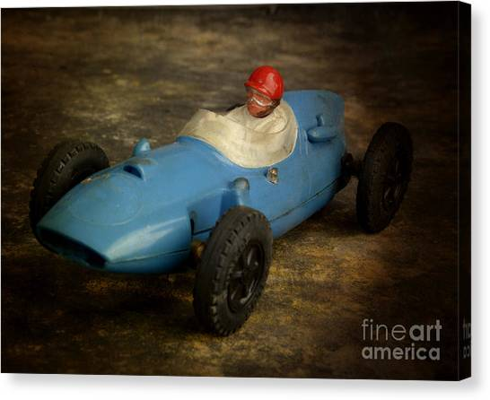 Racecar Drivers Canvas Print - Toy Race Cars by Bernard Jaubert